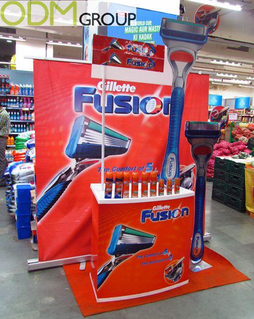 custom floor and counter top displays